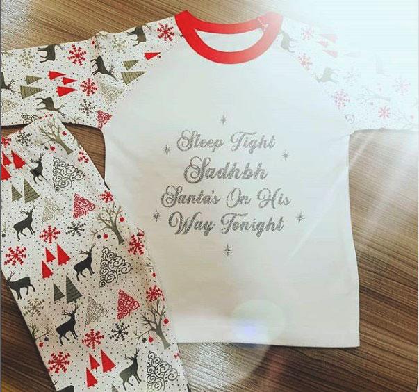 Grey and Red Pyjamas