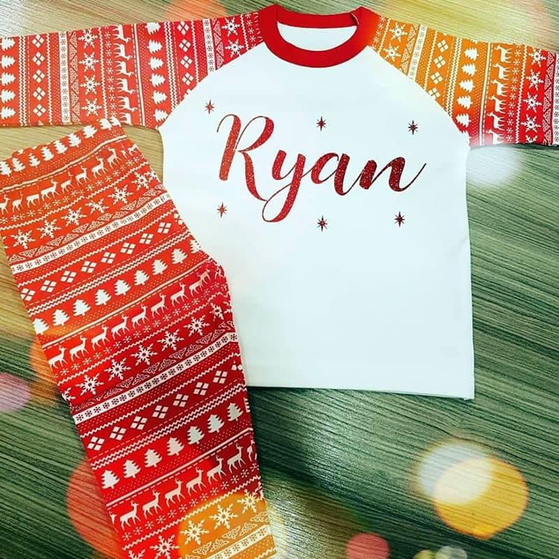 Red Snowflake Pyjamas