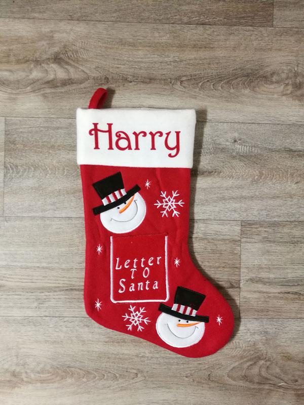 White Deluxe Letter to Santa Stocking